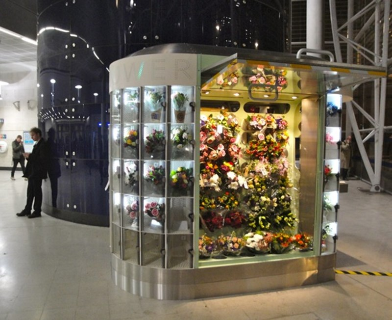Flower vending machine - Andrew McAlpine